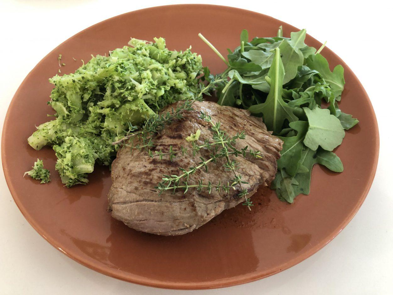 Rundsvlees met broccoli puree