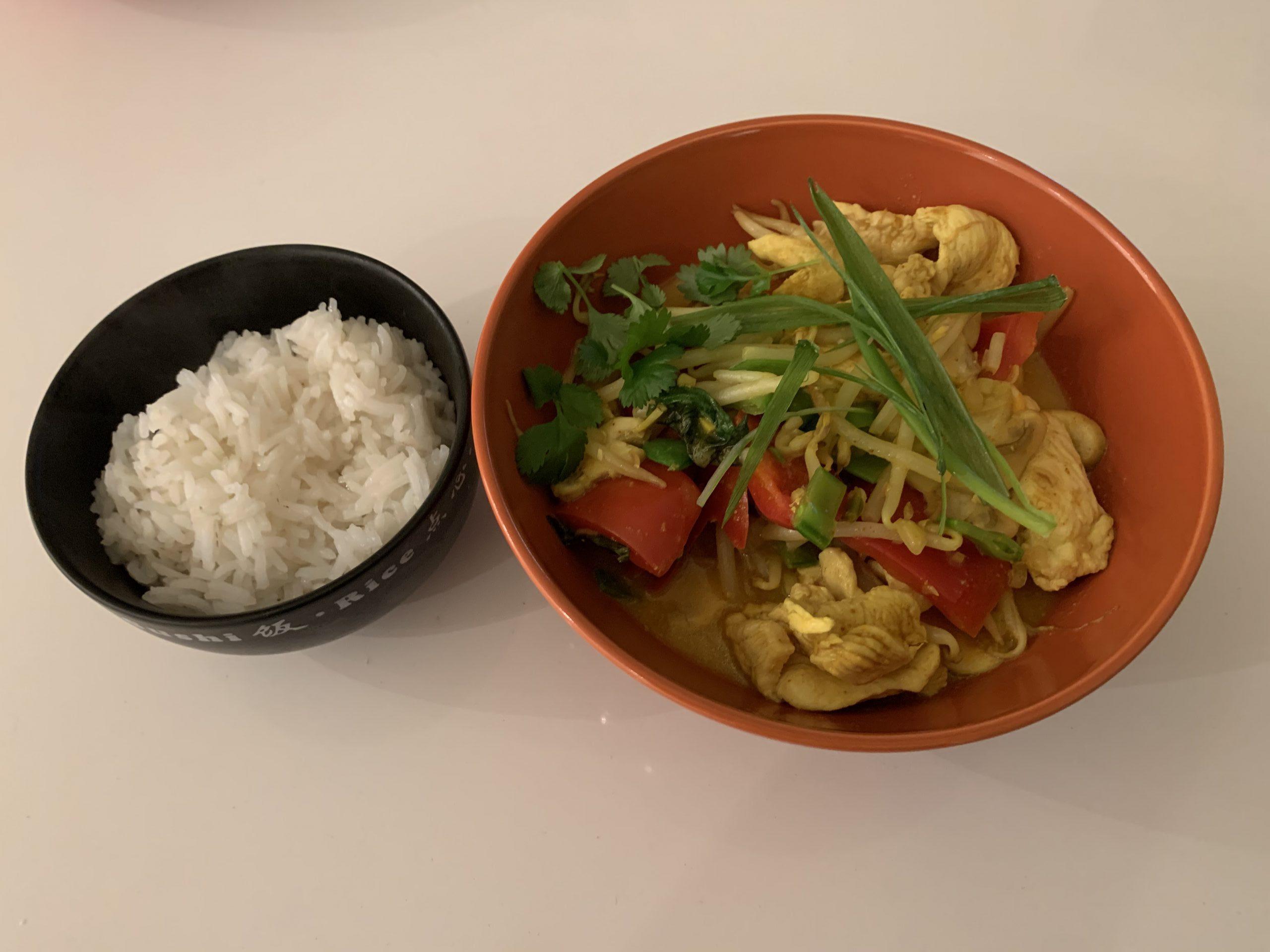 Kip Curry met rijst